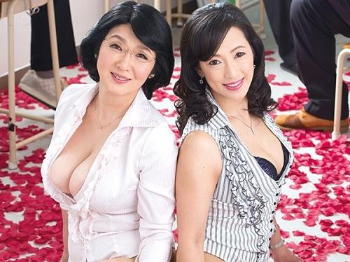 《五十路の熟女、女教師》「いやよぉ!女同士が良いのよ!」レズがバレた巨乳おっぱいムチムチおばさん達が教え子チンポに犯される!