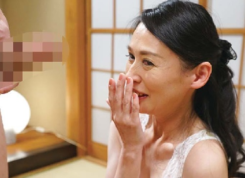 《五十路の人妻熟女》「濡れます・・・♥」スレンダー巨乳おっぱいなお上品な社長夫人おばさんが初撮りでセックスしちゃうw
