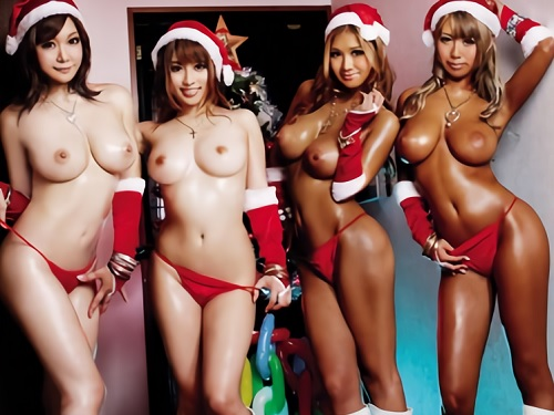 《黒ギャル&白ギャルサンタ》「ナマでいいよー♥」スレンダー巨乳おっぱいの超抜ける美女サンタが膣内射精SEXを贈るww