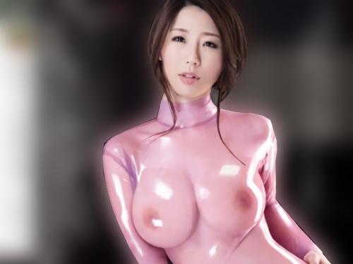 《巨乳痴女》「興奮するぅ♥」ピッチピチの特製のラテックススーツに身を包むスレンダー美乳おっぱいお姉さんのハードSEX!w
