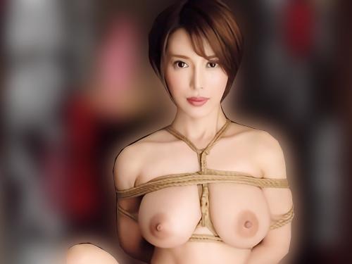 《ドM人妻NTR》「縛られると興奮します…♥」スレンダー巨乳おっぱいの激エロ美人人妻が旦那の居ない間に縄で縛られ感じる!